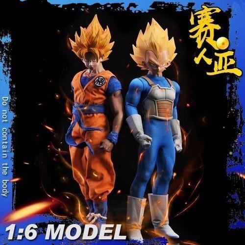 1 6 sol de Dragon Ball Z Goku súper Saiyan Figura Personalizado o Vegeta Macho Conjunto Set