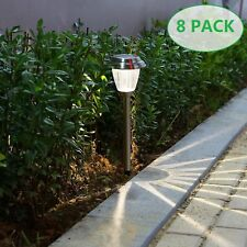 Voona 8 pack solar light outdoor led garden lights transform your item 1 voona solar led outdoor lights 8 pack stainless steel pathway landscape lights voona solar led outdoor lights 8 pack stainless steel pathway aloadofball Image collections