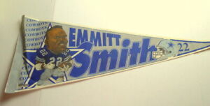 Emmitt-Smith-Football-Pennant-Dallas-Cowboys-Full-Size-NFL-1992