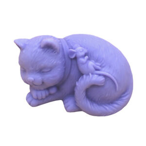 Craft Cat Silicone Soap Mold Craft Soap Making Mould Candle DIY Handmade Mold