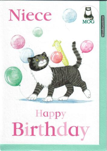 Greeing Card From The Popular MOG Book Series Niece Happy Birthday