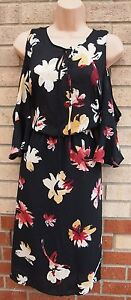 G21-BLACK-BEIGE-RED-FLORAL-CUT-OUT-SHOULDER-TIE-NECK-A-LINE-SKATER-TEA-DRESS-10