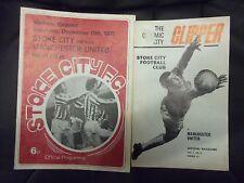 2 X STOKE CITY V MANCHESTER UNITED, DIVISION 1, 28TH FEB 1970 & 11TH DEC 1971.