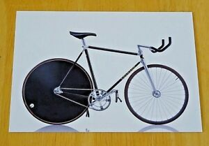 CYCLEPEDIA-POSTCARD-ICONIC-BICYCLES-COLNAGO-CARBITUBO-PISTA-ITALY-1990