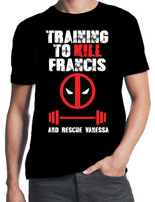 DEADPOOL T-SHIRT Finding Francis Mens Comedy Black T-shirt Sizes S-5XL