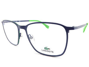 4312ad4fca LACOSTE +0.25 to +3.5 Reading Glasses 53mm Matte Blue   Green Tips ...