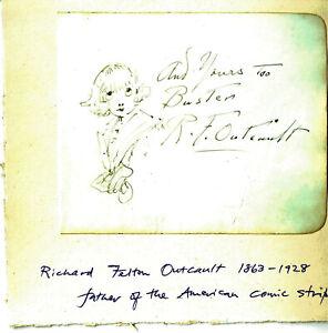Original Comic art BUSTER BROWN, Richard Felton Outcault, father of the American