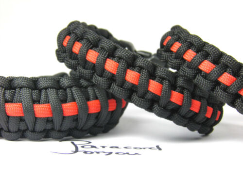 Breiten-Feuerwehr-Männer Armband Paracord Armband-Thin Red Line-3 versch