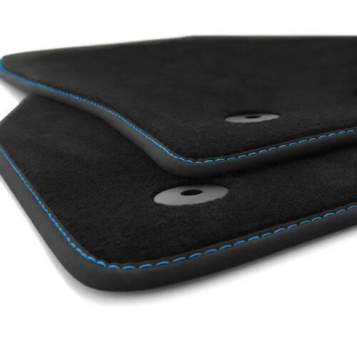 Nouveau Tapis De Sol Seat Ibiza 5 6 F KJ Voiture Premium Tuning ziernaht Bleu 2x