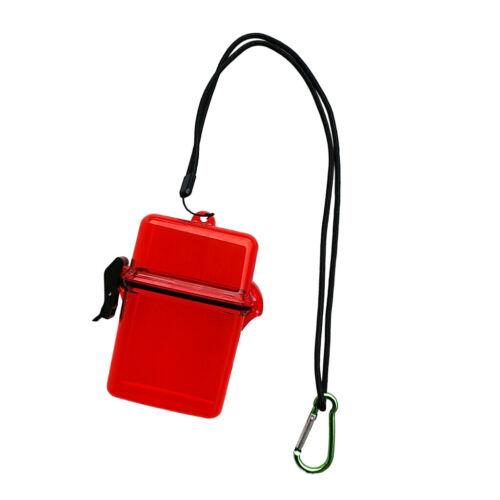 Wasserdichte Aufbewahrungsbox Mini Drybox Trockenbox mit Lanyard und