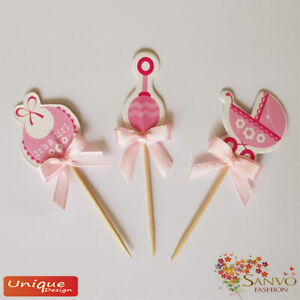 BABY-SHOWER-CUPCAKE-TOPPERS-BIRTHDAY-PARTY-CUPCAKE-CAKE-TOPPERS-PICKS-DECOR