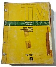 John Deere 6600 And 7700 Combines Technical Manual Tm 1021 February 1977