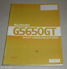 Werkstatthandbuch Suzuki GS 650 GT / GS650GT / GLX GX GTZ ab 1981 Stand 10/1990