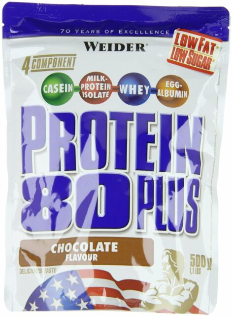 Weider Protein 80 Plus 500g Beutel Whey EGG Eiweiß Muskelaufbau Schoko
