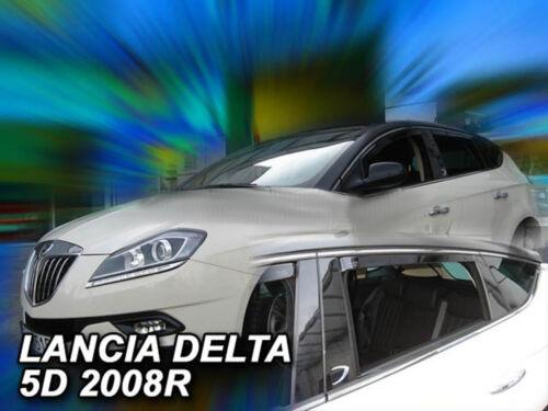 DLN21213 Lancia Delta 5 puertas 2008-Up desviadores 4pc Heko teñida de viento