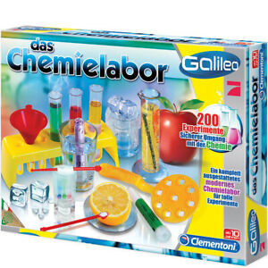 Clementoni-Galileo-Das-Chemie-Labor-Physik-Lern-Experimentier-Set-Kasten-Kinder