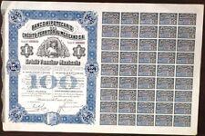 Mexico Mexican 1914 Banco Hipotecario Queen Victoria 100 Pesos UNC Bond Share