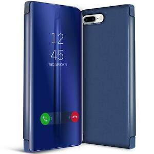 Handy-Klapp-Tasche-fuer-Apple-iPhone-7-8-Huelle-View-Flip-Case-Schutz-Cover