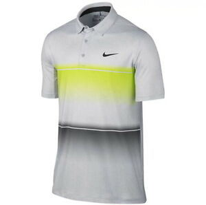 5fda7b89c Nike Golf Men's Mobility Stripe Polo Standard Fit Volt Grey Small ...