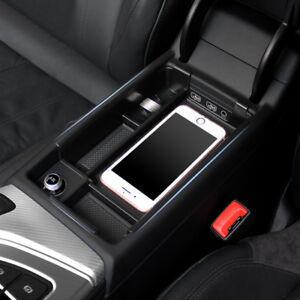 for Audi A4 B9 2017-2018 Black Accessories Armrest storage Box ...