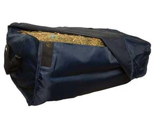 Weatherbeeta 1200 Denier Nylon Hay Bale Bag with Handles - Navy 17  x 16  x 34