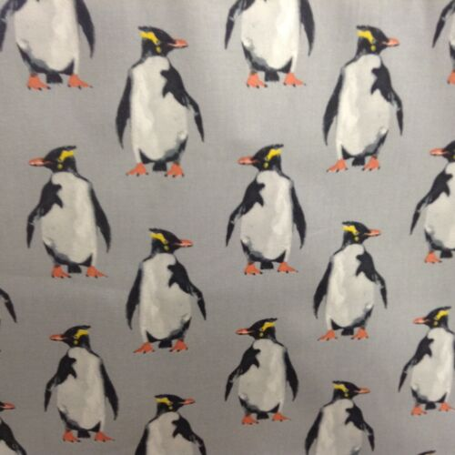 Penguin Artic Grey//Black Prestigious Textiles Cotton Curtain//Craft Fabric