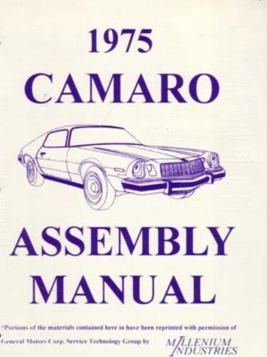 1975 Chevrolet Camaro Assembly Manual Book Rebuild Instructions Illustrations