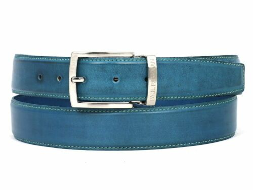 Paul Parkman Men/'s Leather Belt Hand Painted Sky Blue