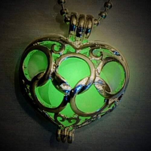 Fairy Jewelry Luminous Pretty Women Pendant Locket Necklace Glow In The Dark