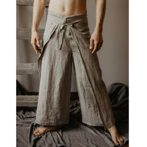 Yoga and meditation wrap trousers 2 tones selected choice of Thai Fisherman Pants