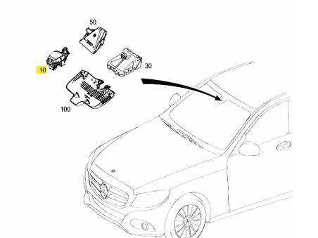 New Mercedes 2015 C-Class 205 Chassis Rain /& Light Sensor *2059002800