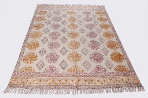 Indian Runner Rug Area Rug Dari Rug Handmade Cotton Floor Rug Carpet Modern Rug