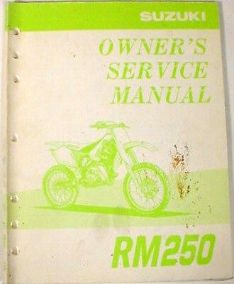 1998 SUZUKI RM125 MOTORCYCLE OWNER`S SERVICE MANUAL