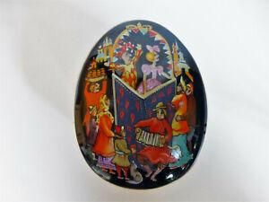 Franklin-Mint-Spieluhr-1988-034-Petrouchka-034-Porzellan