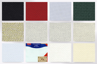 DMC Linen 14 HPI Aida Cross Stitch Fabric Ecru Cream per pack