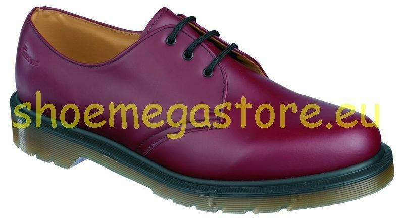 Dr Martens 3 Loch 1461PW Cherry Red 10078602 Original Classic Doc