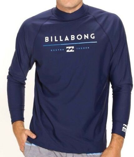 Size L NWT RRP $59.99 Billabong Tri Unity LS Surf Rash Swim Shirt // Rashie
