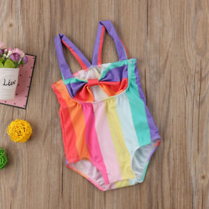 1294899c5 Image is loading Newborn-Infant-Baby-Girl-Rainbow-Bikini-Swimwear-Swimsuit-