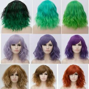 Lolita-Women-039-s-Short-Curly-Anime-Synthetic-Hair-Heat-Resistant-Cosplay-Party-Wig