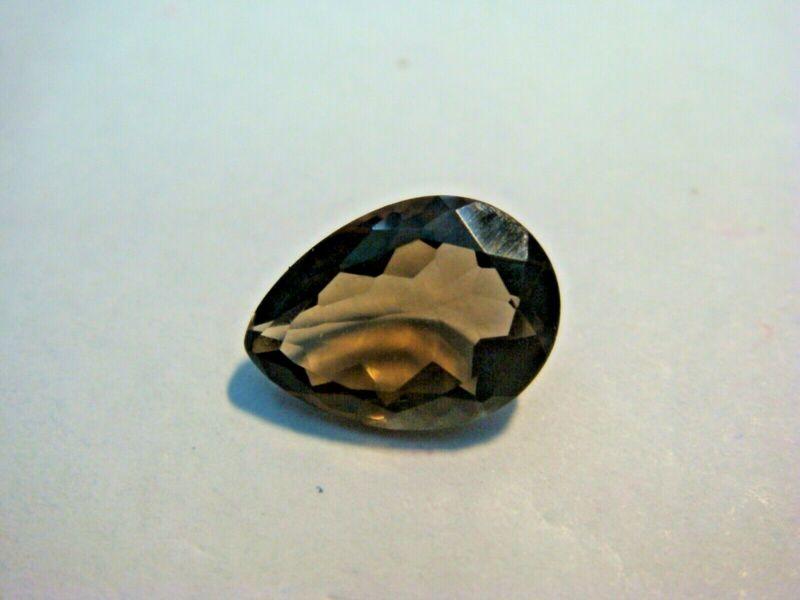 Smoky Quartz Pear cut Gemstone 10 mm x 7 mm 1.80 carat Natural Gem
