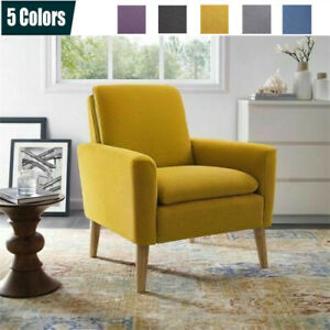 Modern-Upholstered-Accent-Chair-Comfy-Arm-Chair-Fabric-Single-Sofa-Living-Room