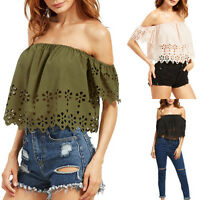 Sexy Off-Shoulder Short Sleeve Loose Top Fashion Women Casual T-Shirt Blouse New