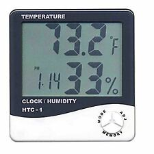 Digital Temperature Humidity Hygrometer Alarm Data Clock Calender Thermometer