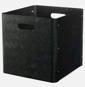 Ikea-BULLIG-Bamboo-Storage-Box-Home-Decor-12-x-13-x-13-034-Large-Black-New