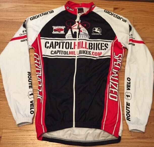 Men's GIORDANA  Bikecycle Racing Cycling Full Zipper Jersey. Size S Made In   we offer various famous brand