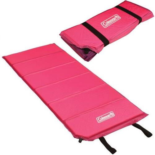 Coleman Self Inflating Mat Pink Hiking Compact Mattress Air Bed
