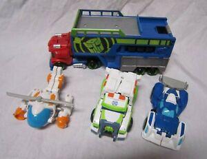 Transformers Heroes Rescue Bots lot Optimus Prime semi truck car Playskool