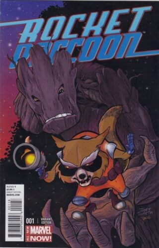 ROCKET RACCOON 1 RARE EXCLUSIVE JEFF SMITH NYCC 2014 SDCC VARIANT COVER NM GROOT