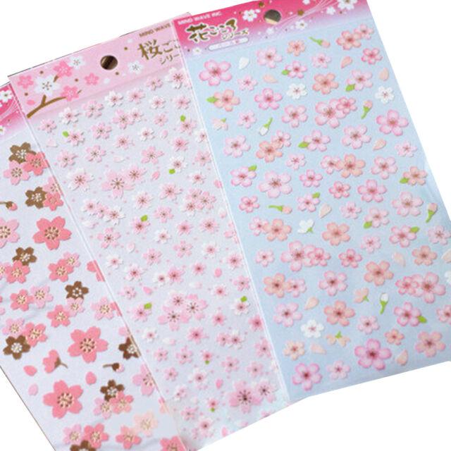 Cherry Blossom Stickers Sakura Flower Floral Craft Scrapbook Card DIY OHK