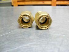 Qty 2 Brass Sight Glass 12 18 Hex Top Liquid Oil Level Fitting 38 Glass